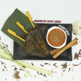 Cooked Satay Beef Lung serves with Peanut Sauce 700gm (2)