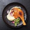 Duck leg confit cooked