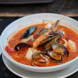 Italian Seafood Stew cooked