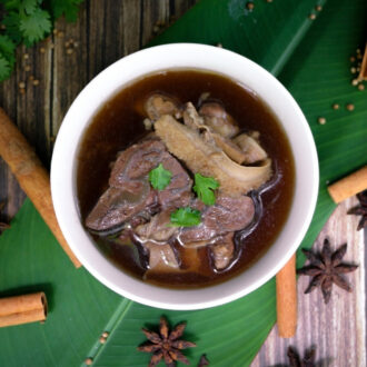 Oriental Beef Stew cooked